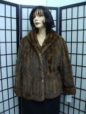 PRE-OWNED CANADIAN BROWN SQUIRREL FUR JACKET COAT WOMEN WOMAN SIZE 12 MEDIUM