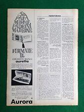 PV20/21 Pubblicità Advertising Clipping (1968) - AURETTA PENNA AURORA COFANETTO