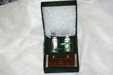 NIB GoRgEoUs Neiman Marcus Silverplated Salt & Pepper Shakers & stand in Box