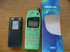 NOKIA 5110 MOBILE PHONE, NEW GREEN NOKIA FRONT, REFURBISHED, GRADE A, VGC