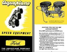 Aquaplane Speed Equipment - For the Whole Current Range of Ford Cars & Engines,