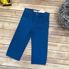 Carter's NEW NWT Mini Blues Jeans Pants 24 mo Boys Adjustable Waist Bright Blue