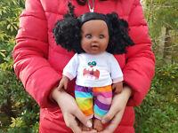 """Ideal Gift 18/"""" Black African Doll Baby Boys Brandon Bedtime Doll Vinyl 46cm"""