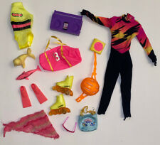 Mattel Barbie Speedo Swim Rollerblade Beach Lot