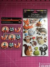 Fall Animal Critters Stickers 2 Sets Fox, Skunk, Owl, Turkey