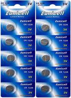 10 x CR1220 3V Lithium Knopfzelle 40 mAh ( 2 Blistercard a 5 Batterien)Eunicell