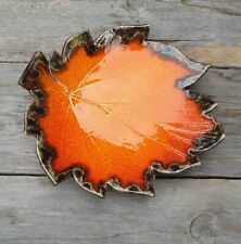 An original, handmade ceramic plate - a leaf