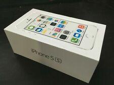 Genuine Original iPhone 5s Empty Box w Inserts FREE 2x White New Apple Decals!