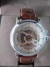 BNIB Leather Band AK-Homme Men's Automatic Mechanical Wrist Watch