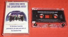 CHRISTMAS WITH THE SALVATION ARMY - UK CASSETTE TAPE - BRASS BAND & CHOIR