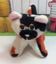 "Galoob Pound Puppies Purries Purry Cat 3"" Tiny Mini Baby Kitten Calico Orange 2"
