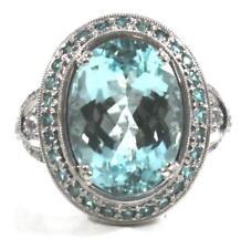 GIA Certified 8.67 Carat Paraiba Tourmaline Diamond Ring