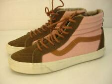 Men's 10.5 Vans Iconic Sk8-HI Pro Off The Wall Skate Shoes Pink Brown Women's 12