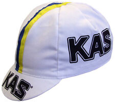 KAS RETRO CYCLING TEAM BIKE CAP - Vintage -  Made in Italy - Sean Kelly