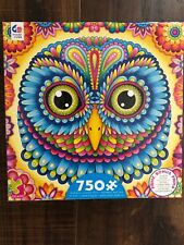 Ceaco Puzzle 750 Pc Complete Brand New 21 By 21 Age 12 Plus New Cute Owl Poster