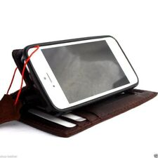 genuine nhandmade leather case fit iphone 5 cover book wallet stand holder 5s id