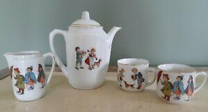 Vintage Antique Estate Made in Germany Porcelain Children Tea Set * 4 Pieces