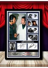 More details for (325) elvis presley & tom jones signed unframed/framed photograph (reprint) @@@@