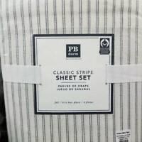 Pottery Barn Teen Classic Stripe Organic Sheet Set Full