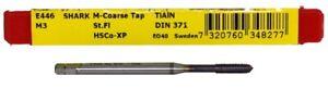 DORMER Shark E446 M3 M Coarse Tap DIN 371 Straight Flute TiAlN HSCo-XP