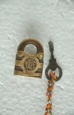 Old Brass Small / Penny Yale & Towne Brand Handcrafted Padlock , USA