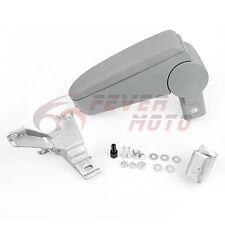 Gray Center Console Leather Armrest Storage For VW Golf Jetta Bora Mk4 99-04 FM