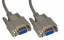 5m RS232 croisé câble série Null Modem 9 broches croisées de câble DB9 femelle à femelle