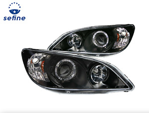 ANZO PROJECTOR HEADLIGHTS BLACK w/ HALO FOR 04-05 HONDA CIVIC 2/3/4DR 121059