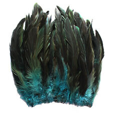 "80+ pcs.(16g) 8-10"" half bronze teal schlappen rooster tail feathers"