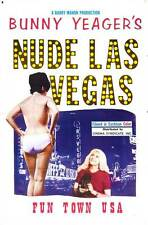 BUNNY YEAGER'S NUDE LAS VEGAS Movie POSTER 27x40 Michel Constantin Alexandra