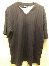 Men's V-Neck Shirt Dress Casual John Blair Navy LG US Seller John Blair