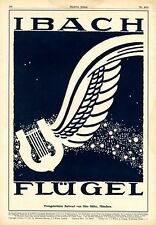 Ibach Grand Piano XL 1921 German ad by Otto Ottler Munich advertising lyre wing