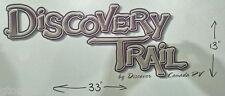 DISCOVERY TRAIL DISCOVER CANADA RV CAMPER LOGO HORSE LEGEND TRAILER DECAL 33x13