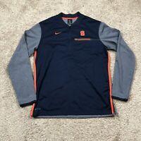 Mens Medium Nike Dri Fit Syracuse Orange Navy Blue 1/4 Zip Pullover