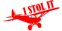 I STOL IT Airplane Decal WALL WINDOW Stickers Made in USA Free Shipping LSA EAB