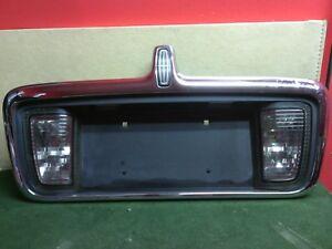 2003 - 2006 Lincoln LS trunk lid license plate chrome bezel  Used OEM