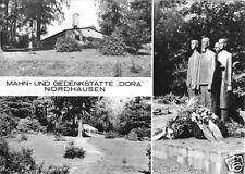 """AK, Nordhausen, Mahn- und Gedenkstätte """"Dora"""", drei Abb., 1974"""