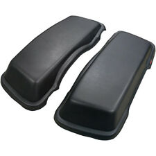 T-Bags Black Saddlebag Lid Caps Covers For Harley FLH/T 93-13 w/ Stock Hard Bags