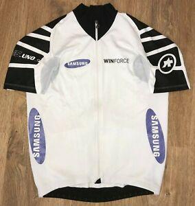 Assos S5.uno White Winforce Samsung RARE cycling jersey size L