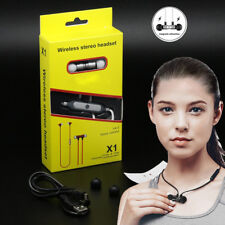 Magnetic Attraction Bluetooth Wireless Stereo Headset Ultra-light Sport Mic Vol