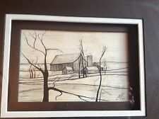 Pen and ink Farmhouse