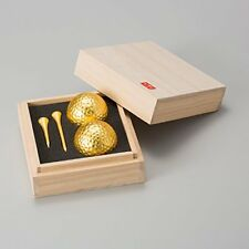Entertainment Golf Competition Prize Gift Tung Boxed Gilt Golf Ball and Tea set