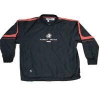 Vintage BUFFALO SABRES NHL Center Ice  Pullover Rain Jacket Windbreaker XL CCM