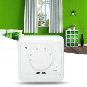 230V Wall-mounted Mechanical Electric Heating Thermostat Temperature Controller