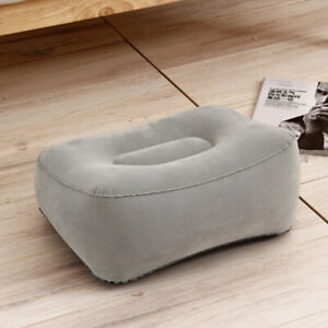 Inflatable Foot Rest Pillow Cushion Air Travel Office Home Leg Up Footrest UK