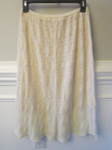 Anthropologie Sparrow Skirt Ivory Crochet Skirt SO SOFT!! Size Small STUNNING!