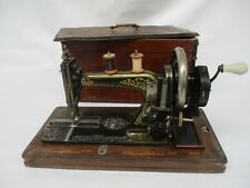 Beautiful early 1900's Durkopp Sewing Machine with wooden case