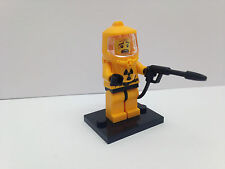 LEGO Series 4 - Hazmat Guy Minifigure With Base Plate - Absolute Mint Condition