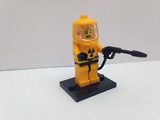 LEGO SERIE 4 - HAZMAT GUY FIGURE MINI CON BASE PIASTRA - ASSOLUTA