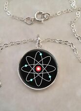 Sterling Silver 925 Necklace Atom Atomic Model Physics Science